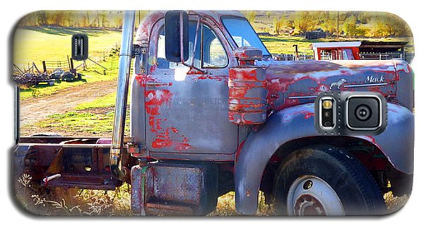 Galaxy S5 Case featuring the photograph Grandpa's Mack Truck by Jackie Carpenter