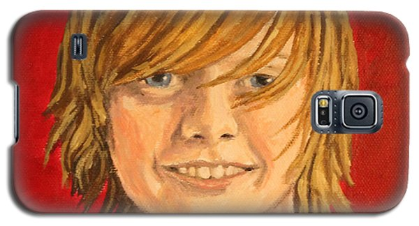 Galaxy S5 Case featuring the painting Grandson-lake by Wendy Shoults