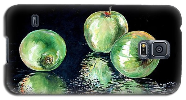 Galaxy S5 Case featuring the painting Granny Smith by Iya Carson
