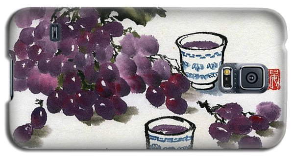 Galaxy S5 Case featuring the painting Grape And Wine by Ping Yan