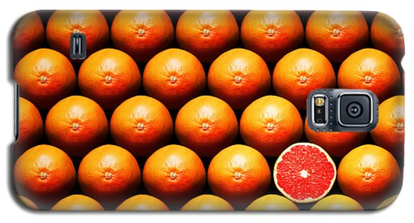 Grapefruit Slice Between Group Galaxy S5 Case by Johan Swanepoel