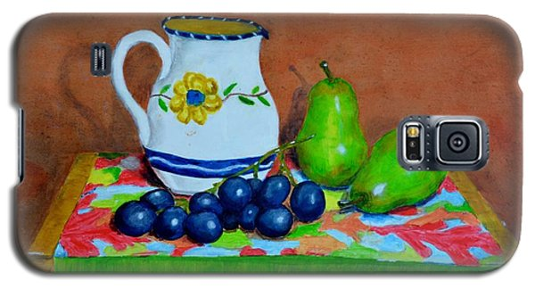 Galaxy S5 Case featuring the painting Grapes And Pairs by Melvin Turner