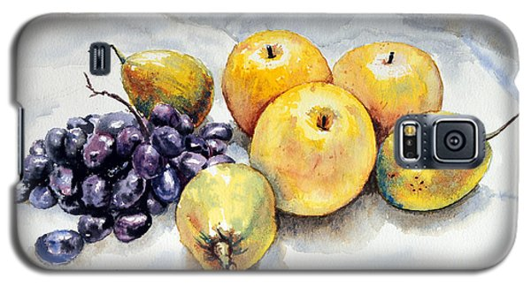 Galaxy S5 Case featuring the painting Grapes And Pears by Joey Agbayani