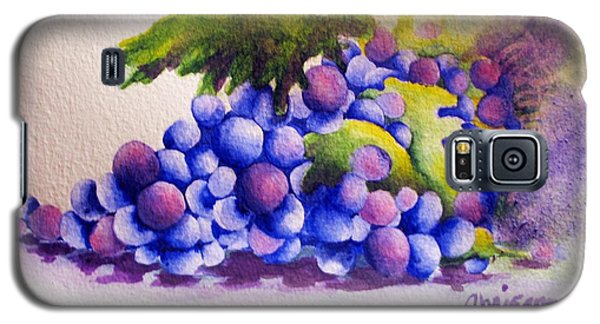 Galaxy S5 Case featuring the painting Grapes by Chrisann Ellis