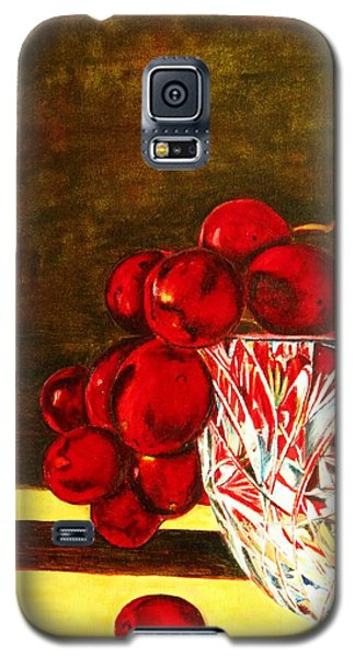 Grapes In A Crystal Bowl Galaxy S5 Case by Margaret Newcomb