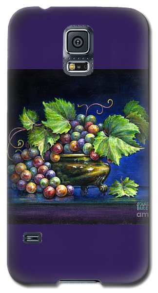 Galaxy S5 Case featuring the painting Grapes In A Footed Bowl by Jane Bucci