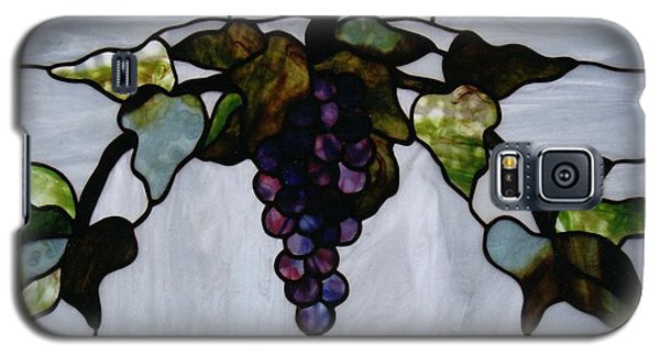 Galaxy S5 Case featuring the glass art Grapes by Karin Thue