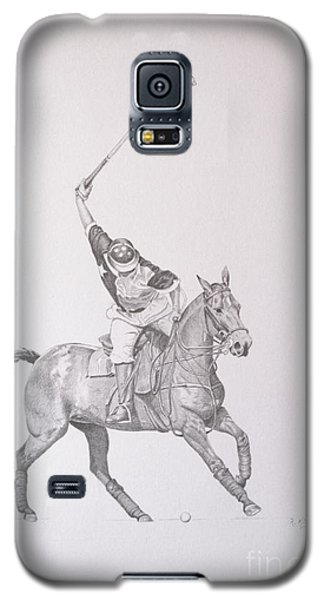 Graphite Drawing - Shooting For The Polo Goal Galaxy S5 Case
