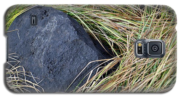 Grass And Volcanic Rock In Yellowstone National Park Galaxy S5 Case