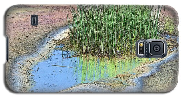 Galaxy S5 Case featuring the photograph Grass Growing On Rocks by Teresa Zieba