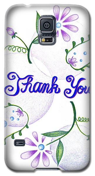 Galaxy S5 Case featuring the drawing Gratitude by Keiko Katsuta