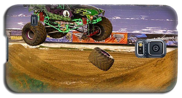 Galaxy S5 Case featuring the photograph Grave Digger Loses A Wheel by Nathan Rupert