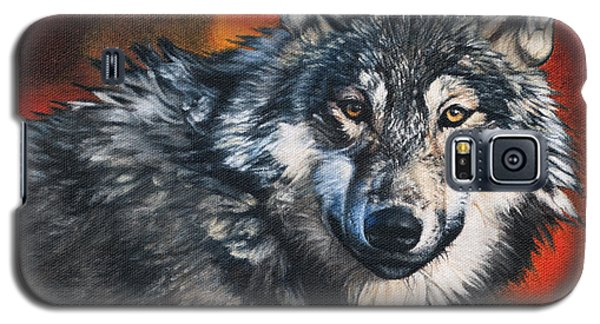 Galaxy S5 Case featuring the painting Gray Wolf by Joshua Martin