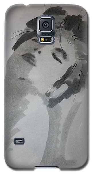Galaxy S5 Case featuring the drawing Graytone by Steve Godleski