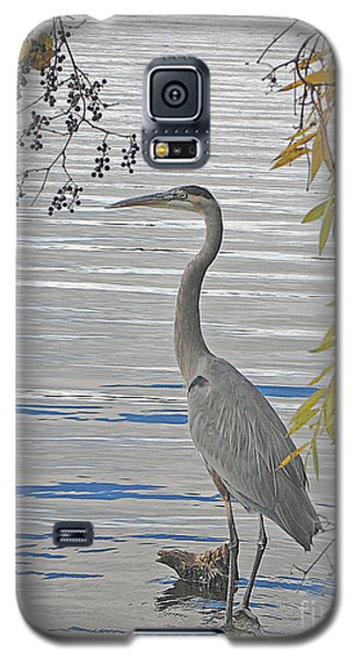 Galaxy S5 Case featuring the photograph Great Blue Heron by Ann Horn