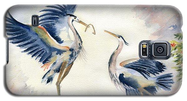 Great Blue Heron Couple Galaxy S5 Case