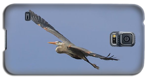 Great Blue Heron In Flight-2 Galaxy S5 Case