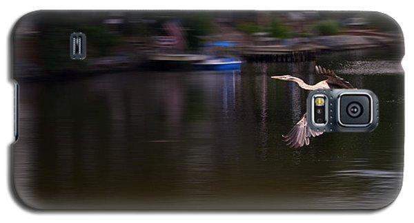 Great Blue Heron In Flight Galaxy S5 Case