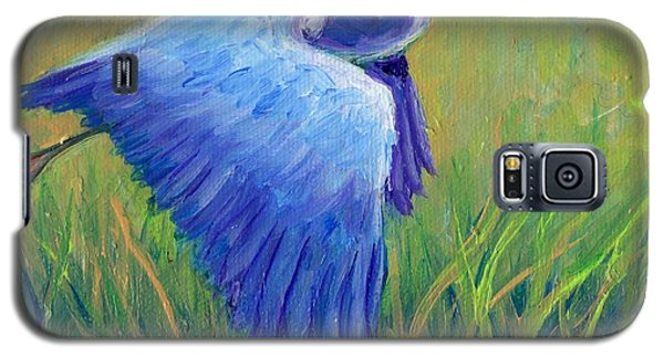 Great Blue Heron Mini Painting Galaxy S5 Case