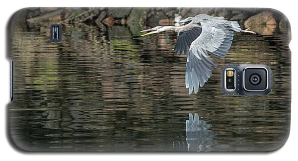 Great Blue Heron Reflections Galaxy S5 Case