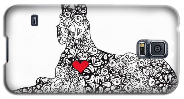 Galaxy S5 Case featuring the drawing Great Dane by Melissa Sherbon
