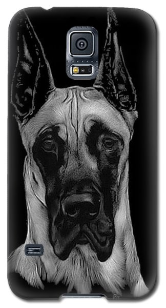 Galaxy S5 Case featuring the drawing Great Dane by Rachel Hames