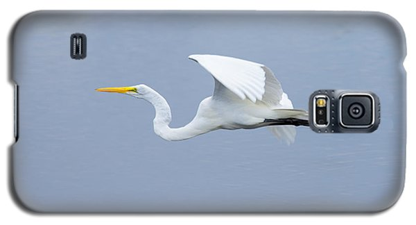 Galaxy S5 Case featuring the photograph Great Egret In Flight by John M Bailey