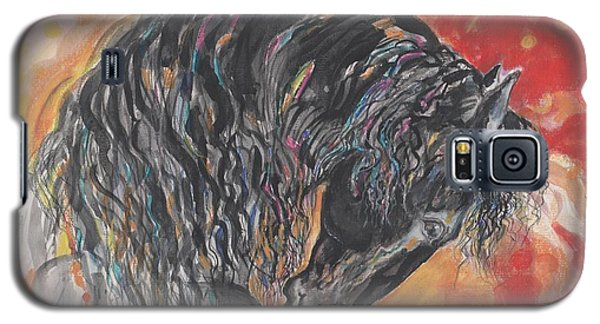 Galaxy S5 Case featuring the painting Great Fresian by Mary Armstrong