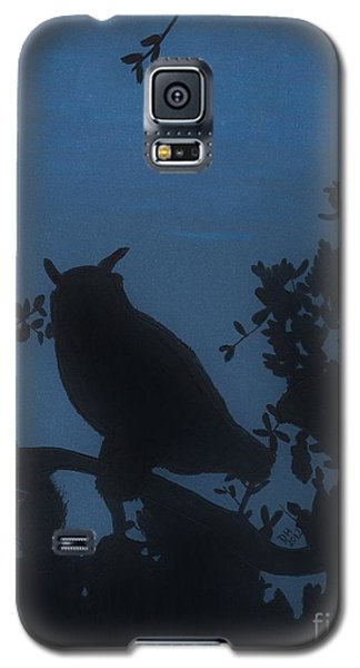 Galaxy S5 Case featuring the drawing Owl At Night by D Hackett