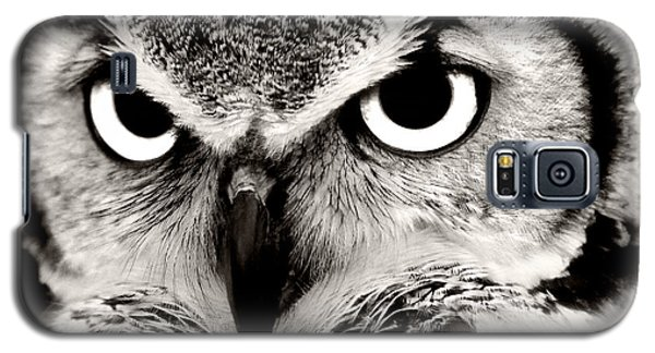 Great Horned Owl In Black And White Galaxy S5 Case