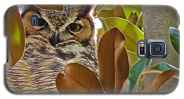 Galaxy S5 Case featuring the photograph Great Horned Owl by Meghan at FireBonnet Art