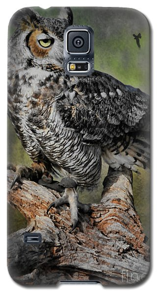 Great Horned Owl On Branch Galaxy S5 Case