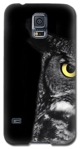Owl Galaxy S5 Case - Great Horned Owl Photo by Stephanie McDowell