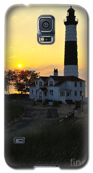 Great Lakes Lighthouse Big Sable Point Galaxy S5 Case by Terri Gostola