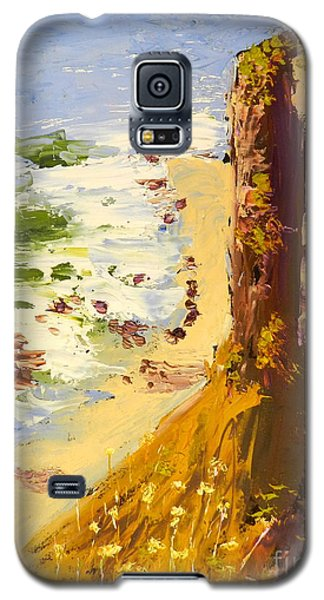 Galaxy S5 Case featuring the painting Great Ocean Road by Pamela  Meredith