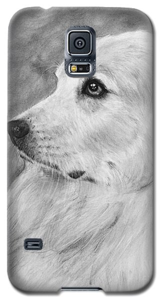 Great Pyrenees In Profile Drawing Galaxy S5 Case