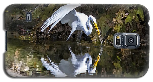 Great White Heron Fishing Galaxy S5 Case
