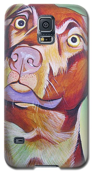 Galaxy S5 Case featuring the painting Green And Brown Dog by Joshua Morton