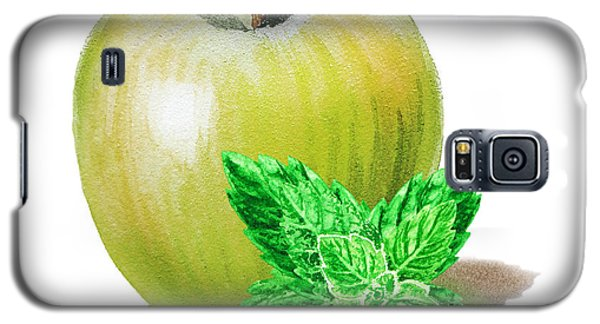 Galaxy S5 Case featuring the painting Green Apple And Mint by Irina Sztukowski