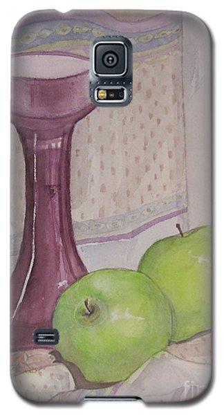 Galaxy S5 Case featuring the painting Green Apples by Carol Flagg