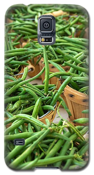 Green Beans In Baskets At Farmers Market Galaxy S5 Case