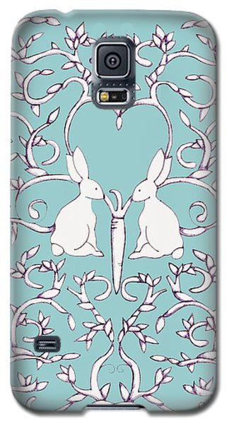 Green Blue Rabbits Leaves Galaxy S5 Case
