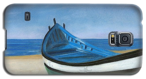 Green Boat Blue Skies Galaxy S5 Case