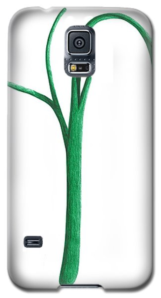Galaxy S5 Case featuring the drawing Green Branche by Giuseppe Epifani