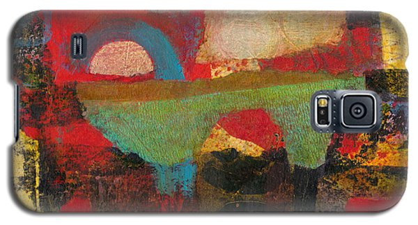Galaxy S5 Case featuring the mixed media Green Bridge by Catherine Redmayne