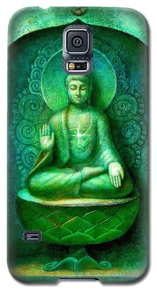 Green Buddha Galaxy S5 Case by Sue Halstenberg