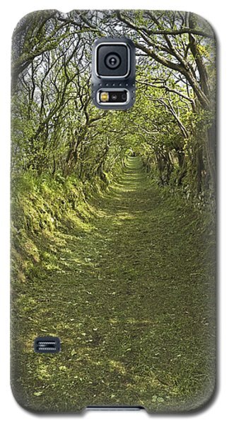 Galaxy S5 Case featuring the photograph Green Country Lane by Jane McIlroy