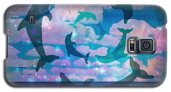 Green Dolphin Dance Galaxy S5 Case