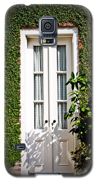 Galaxy S5 Case featuring the photograph Green Doorway by Jean Haynes