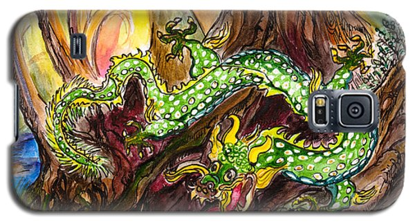 Green Earth Dragon Galaxy S5 Case
